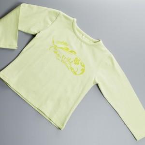 Tshirt à manches longues couleur Lime