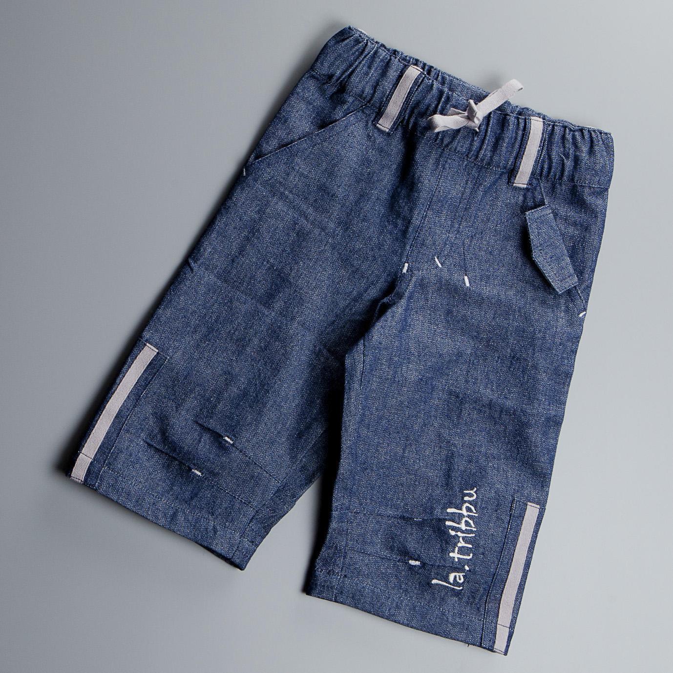Pantalon 3/4 Coton biologique, coloris Denim