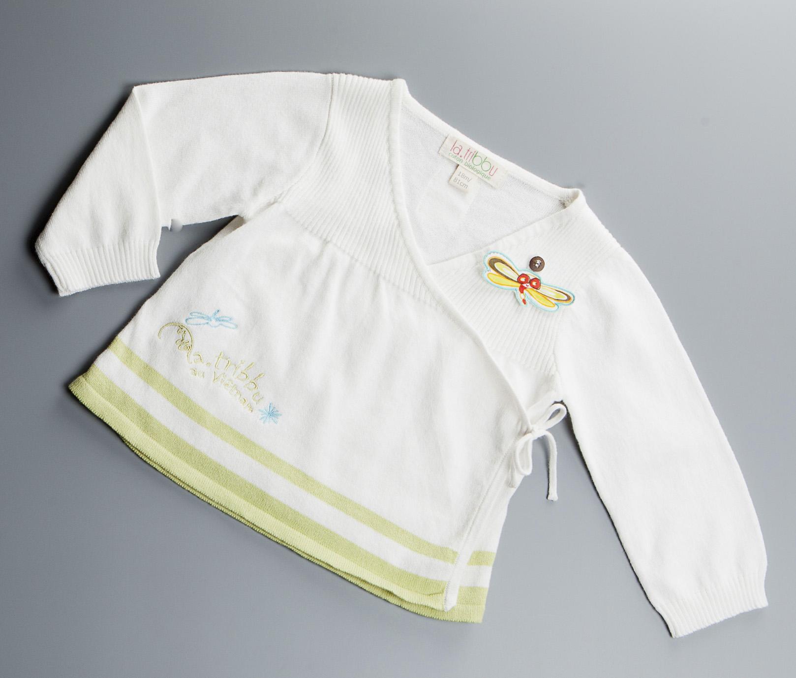 Veste tricot Cache-coeur Coloris Blanc