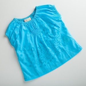 A244 blouse pure turquoise
