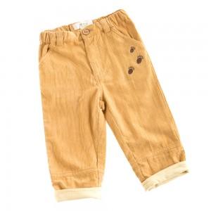 I22 pant velours beige