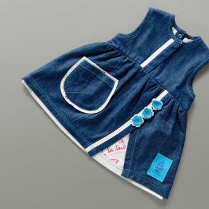 P562 TARICA robe blue jean